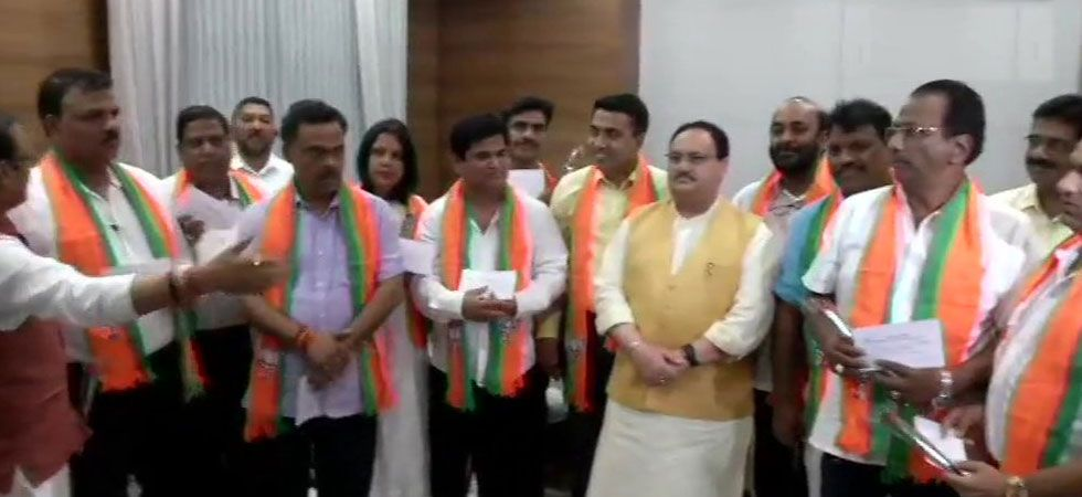 10 Goa Congress MLAs joined BJP in presence of BJP Working President JP Nadda. (ANI Photo)