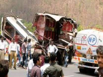 8 dead, 14 injured in bus-tanker collision in Thane district - News