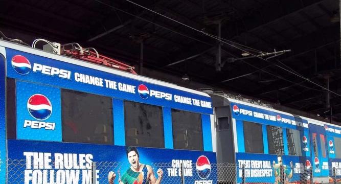 تبلیغات در مترو