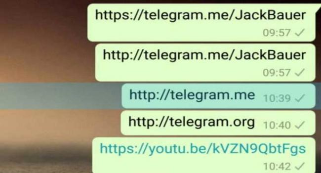 WhatsApp blocking links to rival app Telegram on Android - News Nation
