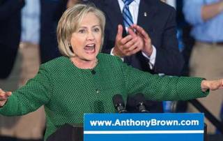 Hillary Clinton heckled at a campaign rally