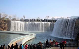 China's new landmark- a man-made WATERFALL built at a whopping cost