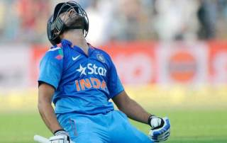 India on losing side; Rohit Sharma enters record books
