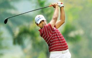 Anirban Lahiri stays in contention at tied third