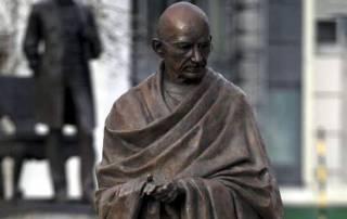 Mahatma Gandhi statue defaced in Rajasthan; IS threat messages found written