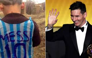 Messi wants to meet his 5 yr old 'plastic bag fan'