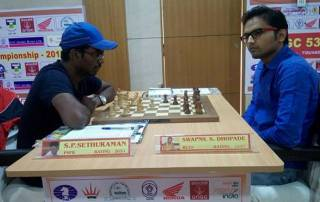 Swapnil Dhopade in sole lead after penultimate round