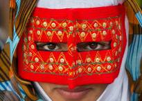 The beautiful Iranian women captured in their boregheh masks