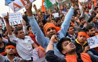 JNU row: ABVP holds counter protest