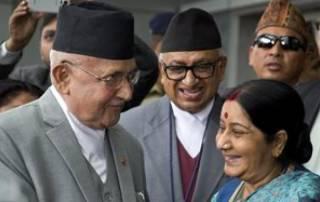 Swaraj meets Nepal PM Oli ahead of Saarc summit