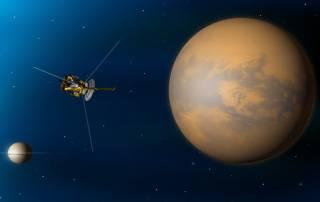 NASA mission spots tallest mountain on Saturn's moon Titan