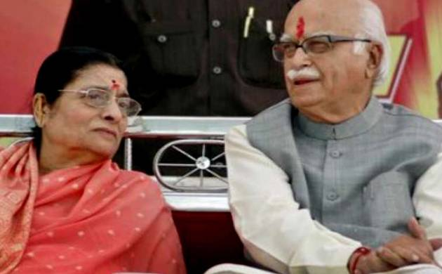 Kamla Advani and LK Advani (File photo)