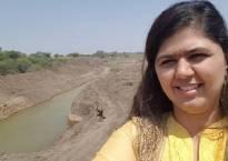 Watch: Pankaja Munde clicks 'drought selfies'; pics go viral, minister draws flak