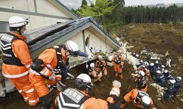 Searchers find body in twin Japan earthquakes, raising toll to 45