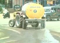 5000 litres used to water roads ahead of Karnataka CM drought tour