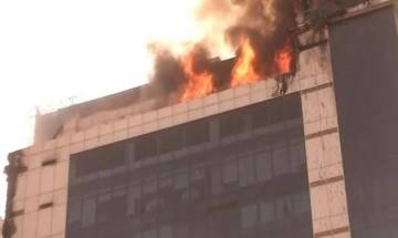 Fire breaks out in 10th floor of a building near Netaji Subhash Place