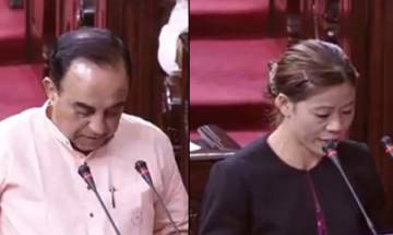 Mary Kom, Subramanian Swamy take oath as members of Rajya Sabha