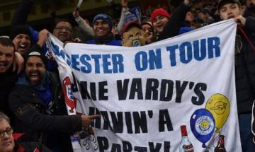 Leicester City fans cause 'biggest Vardyquakes'