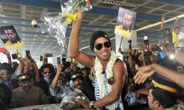 Ronaldinho arrives to represent Goa 5's as the marquee player