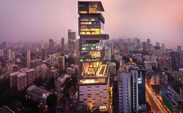 Mukesh Ambani's home Antilia is located in South Mumbai