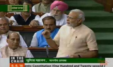 PM walks up to opposition to thank them for support