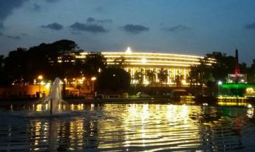 Parliament House dazzles with LED lights