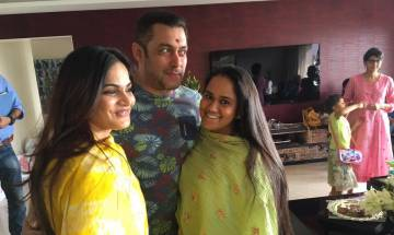 Salman Khan celebrates RakshaBandhan with sisters Arpita and Alvira Khan