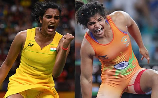 Sakshi Malik and PV Sindhu (Source: Getty)