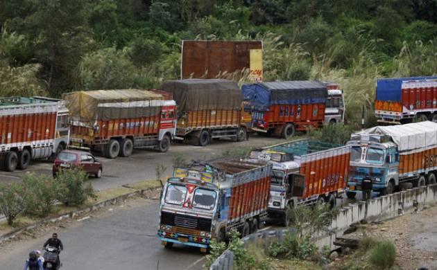 J&K Truckers begin indefinite strike