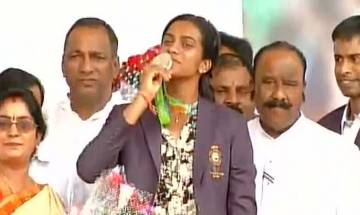 As it happened: Rio star PV Sindhu gets a rousing welcome at Gachibowli stadium in Hyderabad