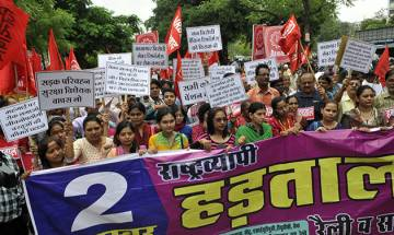 Bharat Bandh Live: Strike by 10 trade unions hits banking, transport services; Bengal, Tamil Nadu unaffected