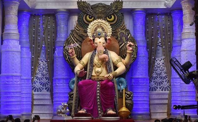 मुंबई में लालबाग के राजा की पहली झलक  (Source- Getty Images)