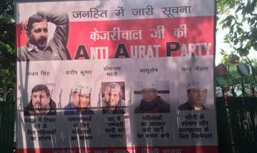 BJP releases poster mocking Kejriwal's AAP for sex scandal, corruption charges against its leaders