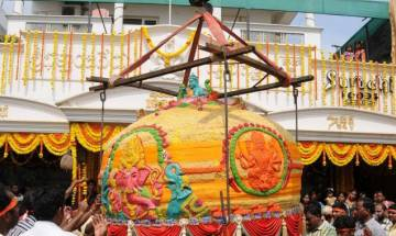 Two huge laddus for 10-day Ganesh Chaturthi celebrations