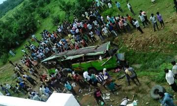 20 killed, 30 injured as bus falls off bridge in Angul district in Odisha