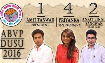 DUSU polls results: ABVP wins Pres, VP and Secy posts, NSUI wins Joint Secy