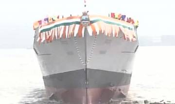 Watch video: India launches Navy's most advanced destroyer Mormugao