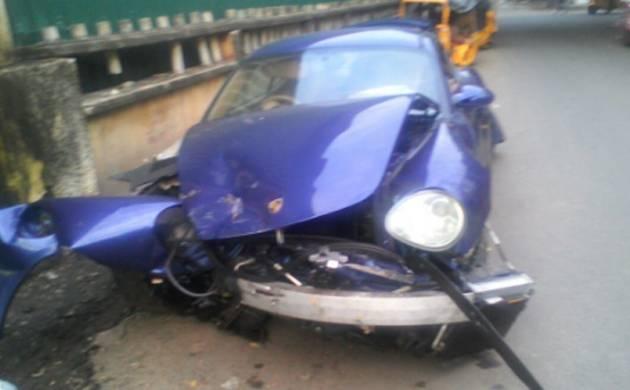 Drunk youth rams Porsche car into 12 auto rickshaws in Chennai