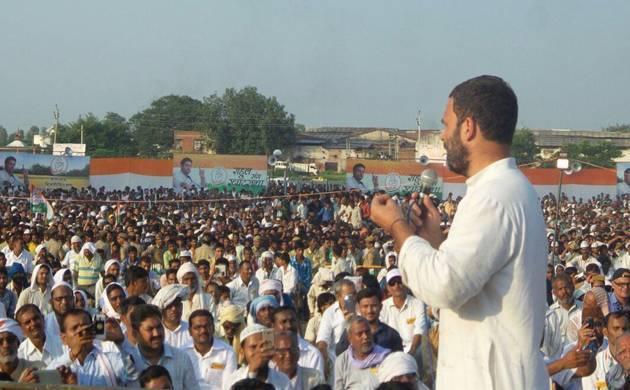Congress vice president Rahul Gandhi in Khat Sabha, Kanpur