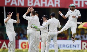 500 Test: India collapse to 291/9 after solid start; Santner, Boult hurt hosts