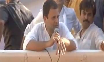 Sitapur: Throw as many shoes as you want; I am not scared, Rahul Gandhi to BJP, RSS