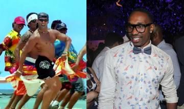 West Indies cricketer Dwayne Bravo imitates Salman Khan's towel dance from the movie 'Mujhse Shaadi Karogi'