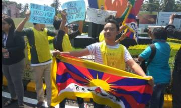 Watch: Tibetans protest in Margao against China's illegal occupation of Tibet