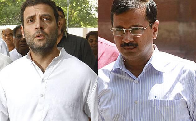 Arvind Kejriwal and Rahul Gandhi (Pic: ANI)