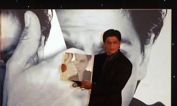 SRK releases his biography written by journalist- turned -author Samar Khan