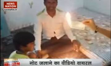 Viral Video: Thane man seen burning Rs 500 note one by one
