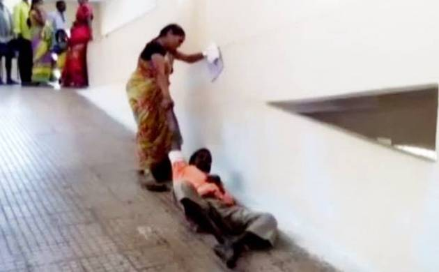 Woman drags husband to first floor at Andhra hospital