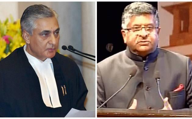 Law Minister Ravi Shankar Prasad and Chief Justice of India TS Thakur