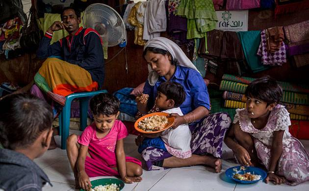 A Rohingya refugee family (Image Source: Getty)