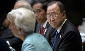 Ban Ki-Moon galvanises support to combat climate change in his last press conference